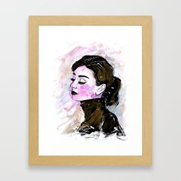 Loose Watercolor & Ink Audrey Framed Art Print