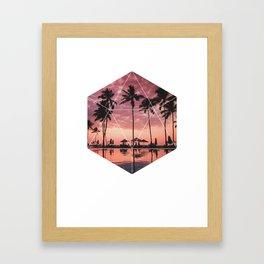SUNSET PALMS- Geometric Photography Framed Art Print