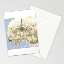 White buffalo calf Stationery Cards