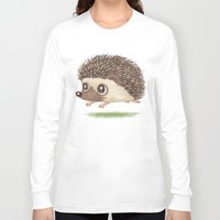hedgehog Long Sleeve T-shirts featuring Hedgehog by Toru Sanogawa
