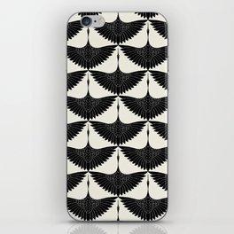 CRANE DESIGN - pattern - Black and White iPhone Skin