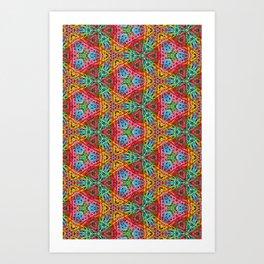 Paper Clips Pattern Art Print