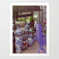 giro al mercato Art Print