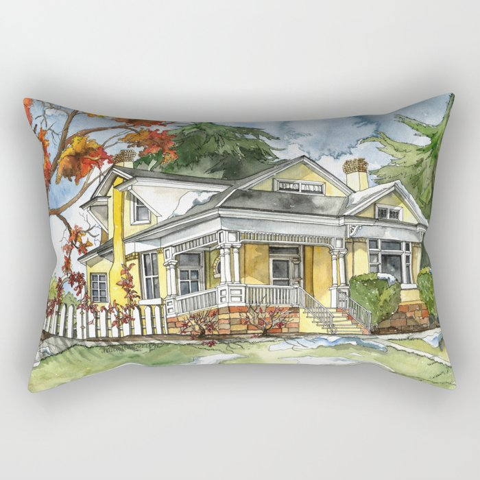 The Autumn House Rectangular Pillow