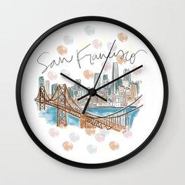 San Francisco Skyline RER Wall Clock