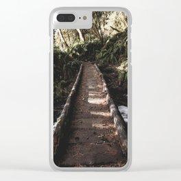 Hoh Rainforest River Trail Clear iPhone Case