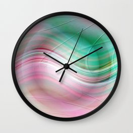 Abstract cricle green and pink Wall Clock