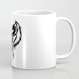 Curled dragons tribal tattoo design Coffee Mug