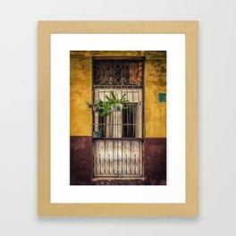 Casco Viejo Door Framed Art Print