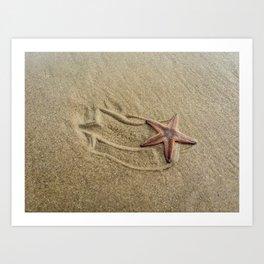 Shooting Sea Star Art Print