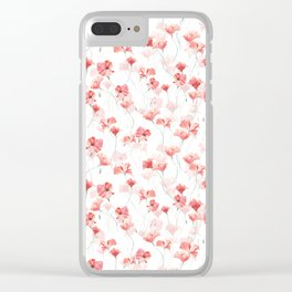 Poppy Dance Clear iPhone Case