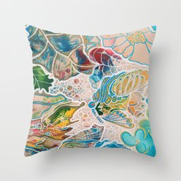 Oriental Garden 1 Throw Pillow