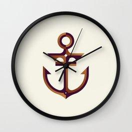 Anchor // Geometric Minimalist Illustration Wall Clock