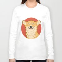 corgi Long Sleeve T-shirts featuring Corgi by Greving Art