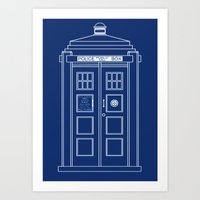TARDIS Blueprint - Doctor Who Art Print