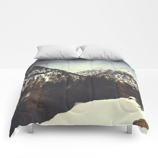 End of Winter in the mountains Comforters