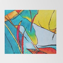 Abstract - Micro Art Throw Blanket