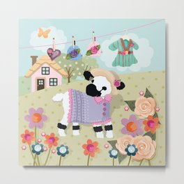 Lily Lamb's Play Day's  Metal Print