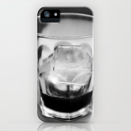 Timeless   Modern abstract black white coffee ice photography iPhone Case