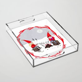 Snow and Stories Acrylic Tray