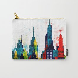 New York City Skyline Concept in Watercolors Carry-All Pouch