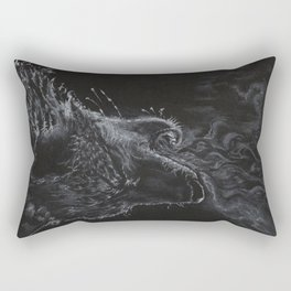 Wolf - The Uneasy Chill Rectangular Pillow