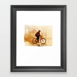 The Biker Framed Art Print