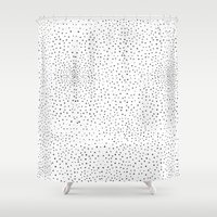 polka dots Shower Curtains featuring Polka Dots by Anais Moods