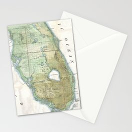 Vintage Map of Florida (1853) Stationery Cards