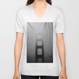 Dark Golden Gate Unisex V-Neck
