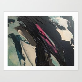 Coastlines + Cloudforms 2.0 detail 1 Art Print