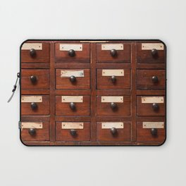 Backgrounds and textures: very old wooden cabinet with drawers Laptop Sleeve