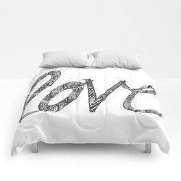 Love Zentangle  Comforters