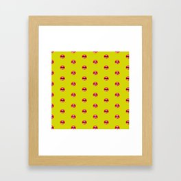 SEXY LIPS ((chartreuse)) Framed Art Print