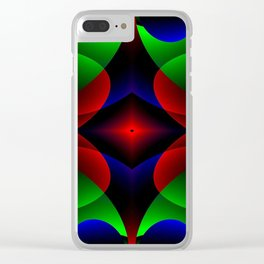 Iridescent Bloom Clear iPhone Case