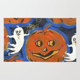 Spooky Jack o' lanterns Rug