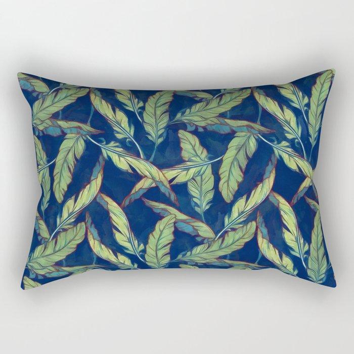 Tropical banana leaves III Rectangular Pillow