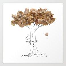 Pencil shavings tree Art Print