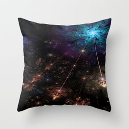 Astral Flowers Throw Pillow