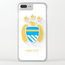 Manchaster City Flat Design Clear iPhone Case