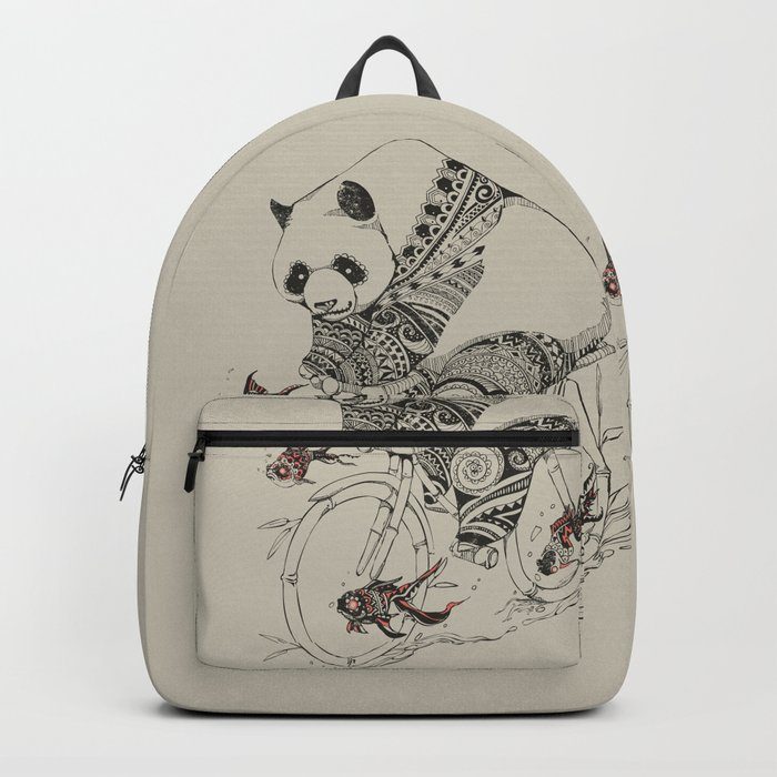 Panda and Follow Fish Backpack