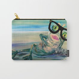 Hipster Frog Princess Carry-All Pouch