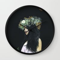 serenity Wall Clocks featuring Serenity by Melissa Hartley