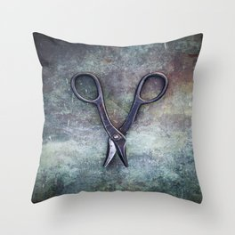 Old Scissors II Throw Pillow