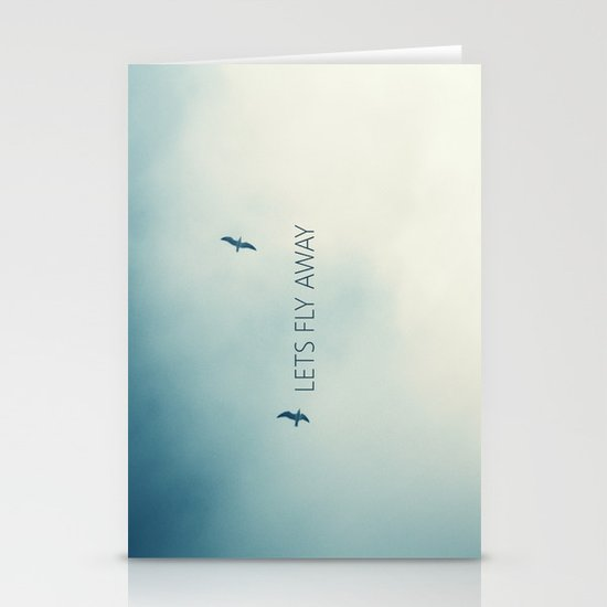 LETS FLY AWAY Stationery Cards
