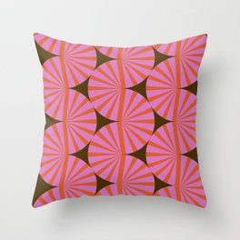 Abstraction_Stripe_Line_Art_Minimalism_001 Throw Pillow