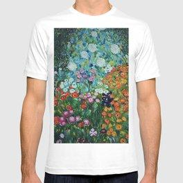 Flower Garden Riot of Colors by Gustav Klimt T-shirt