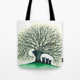 Illinois Whimsical Cats Tote Bag