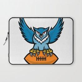 Great Horned Owl American Football Mascot Laptop Sleeve