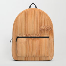 Cool elegant light brown bamboo wood print Backpack